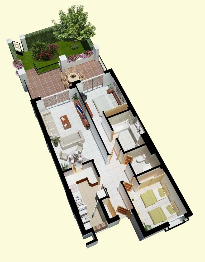 plano de vivienda en 3D