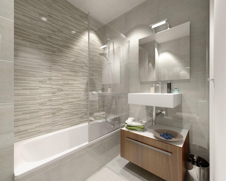 infografía de baño
