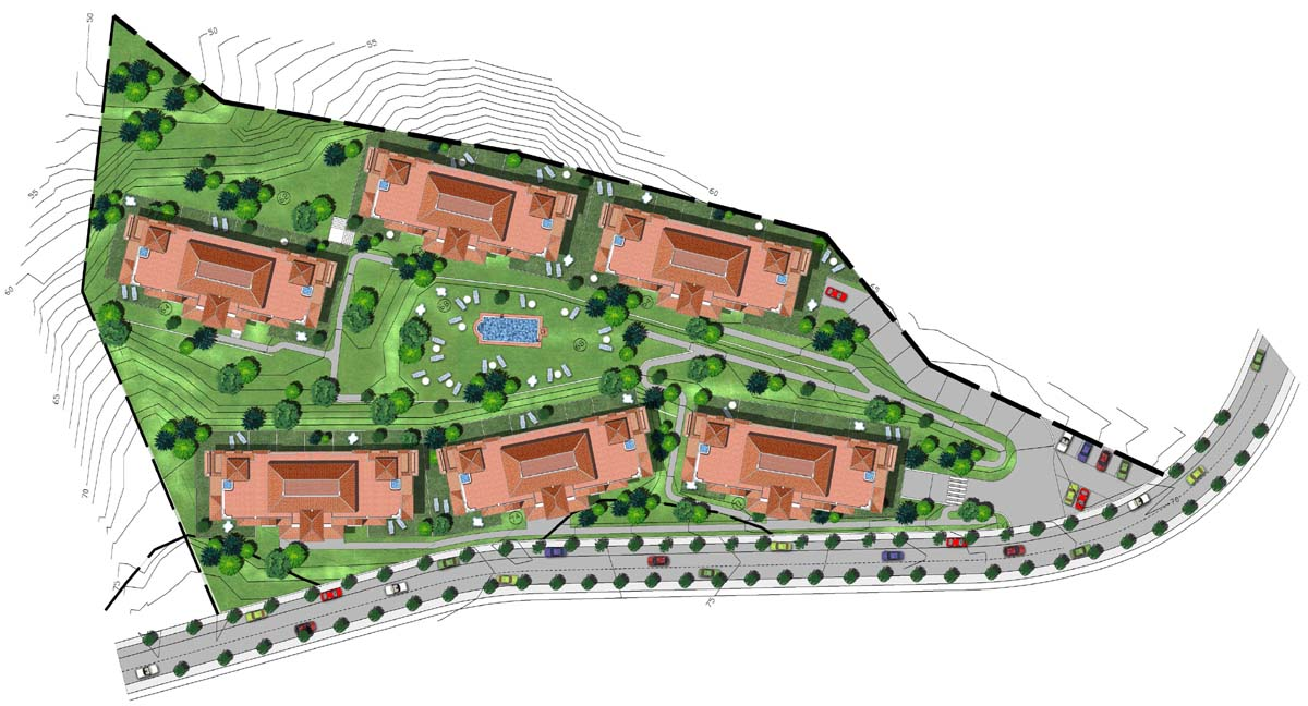 plano de urbanización a color