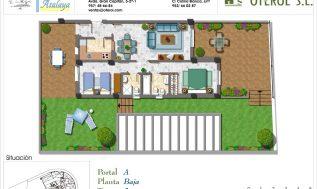plano de vivienda a color