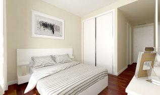 infografía de dormitorio principal