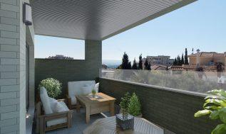 infografía de terraza